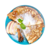 Фото к позиции меню Блины с припеком из яблок и корицы