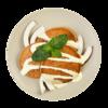 Фото к позиции меню Панкейки на кокосовом молоке с соусом