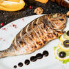 Фото к позиции меню Рыба Дорадо на гриле с овощами