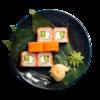 Фото к позиции меню Ролл Филадельфия с лососем и творожным сыром