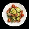 Фото к позиции меню Салат с огурцом и помидорами черри