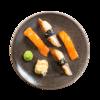 Фото к позиции меню Суси-сет с лососем и угрем