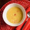Фото к позиции меню Кукурузный суп с крабом