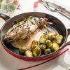 Фото к позиции меню Кролик с брюссельской капустой