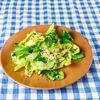 Фото к позиции меню Зеленый салат с льняными семечками и кедровым орехом