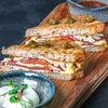 Фото к позиции меню Сэндвич с пастарами