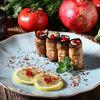 Фото к позиции меню Рулеты из баклажанов с грецкими орехами