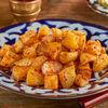 Фото к позиции меню Запеченный с аджикой картофель