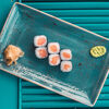 Фото к позиции меню Ролл с лососем