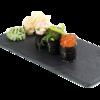 Фото к позиции меню Дункан-сет с копченым лососем, водорослями и икрой лосося