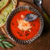 Фото к позиции меню Суп Томатный с пармезаном