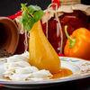 Фото к позиции меню Десерт Круша с крема сирене и розмарин