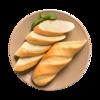 Фото к позиции меню Багет пшеничный от шеф-пекаря Ав