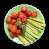 Фото к позиции меню Овощной микс Огурцы, помидоры черри