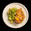 Фото к позиции меню Филе куриное с апельсиновым чатни и гарниром из кабачков