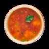 Фото к позиции меню Суп с бататом, нутом и чечевицей