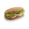 Фото к позиции меню Сандвич на ржаном хлебе с индейкой и яблоком