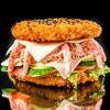 Фото к позиции меню Суши-бургер Камчатский