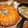 Фото к позиции меню Пирог с картофелем и грибами