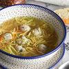 Фото к позиции меню Куриный суп с фрикадельками