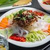 Фото к позиции меню Овощи со свининой в кунжутном соусе