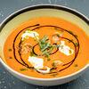 Фото к позиции меню Суп томатный с креветкой