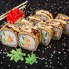 Фото к позиции меню Ролл Темпура Спайси с лососем