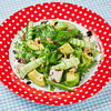 Фото к позиции меню Салат со шпинатом, авокадо и сыром фета