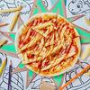 Фото к позиции меню Пицца с беконом, картошкой фри и соусом Барбекю Микеланджело
