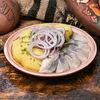 Фото к позиции меню Сельдь с картошкой и луком