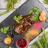 Фото к позиции меню Филе оленя в соусе демиглас