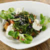 Фото к позиции меню Теплый салат из баклажан с домашней сюзьмой