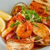 Фото к позиции меню Теплый салат из морепродуктов