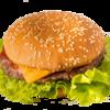Фото к позиции меню Японский гамбургер на белой булке