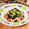Фото к позиции меню Спагетти Неро с морепродуктами