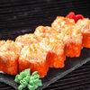 Фото к позиции меню Запечённый сырный ролл с креветками
