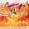 Фото к позиции меню Пирог с семгой и овощами