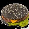 Фото к позиции меню Японский гамбургер на черной булке