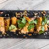 Фото к позиции меню Рулетики из баклажанов с ореховой начинкой
