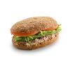 Фото к позиции меню Сандвич на ржаном хлебе с тунцом