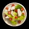 Фото к позиции меню Филе куриное отварное с листовым салатом и помидорами черри