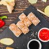 Фото к позиции меню Ролл Лава с копченым лососем