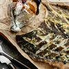 Фото к позиции меню Мурманская камбала с запеченным картофелем, тыквенными семечками и сметаной