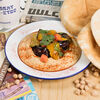 Фото к позиции меню Хумус с хрустящим баклажаном и сладким чили