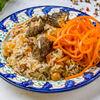 Фото к позиции меню Сет Плов и корейская морковь