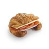 Фото к позиции меню Французский круассан с ветчиной и сыром