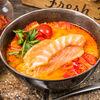 Фото к позиции меню Суп Том Ям с лососем