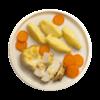 Фото к позиции меню Котлета куриная запеченная в соусе с картофельным пюре