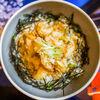 Фото к позиции меню Донбури с креветками темпура