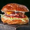 Фото к позиции меню Жар-бургер с соусом блю чиз